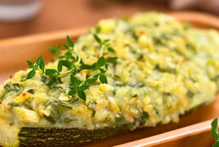 Zucchine gratinate con tegolino